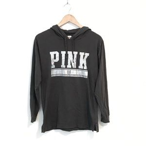 VS PINK Gray Silver Sequin Hoodie Sweatshirt XS